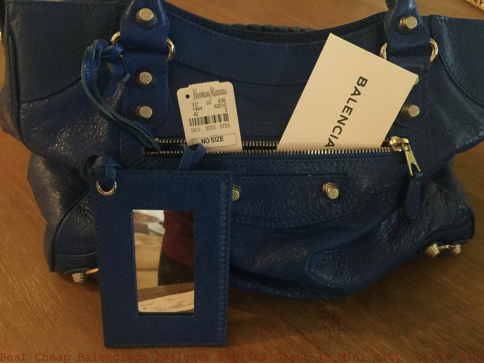 ad90bb8fce Best Cheap Balenciaga Designer Replica Giant 12 Mini City Cobalt Blue  Wrinkled Lambskin Tote balenciaga shoes