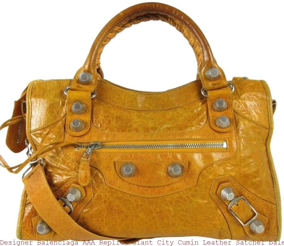 ee85ce2c2d1b Designer Balenciaga AAA Replica Giant City Cumin Leather Satchel balenciaga  replica bag sale