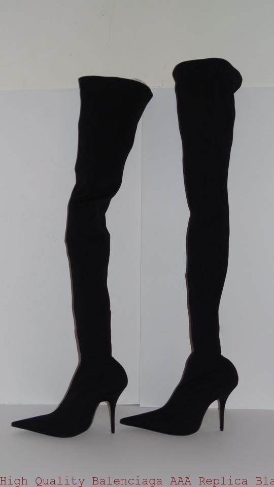 b13a14c823b High Quality Balenciaga AAA Replica Black Knife Jersey Over The Knee Tall  Boots/Booties balenciaga replica handbags outlet
