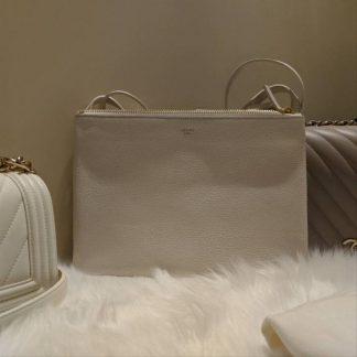 ... High Quality Céline Designer Replica Trio Goatskin White Cross Body Bag  how to spot fake celine replica box bag ... 7c0dbfdac86a1