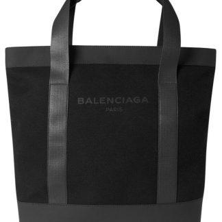 752b820b585 Hot Sale Balenciaga Replica Noir Black Canvas & Leather Tote fake designer  websites ...