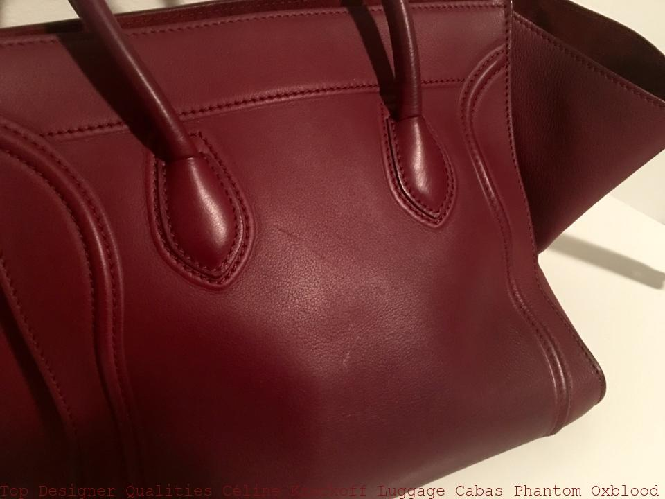 Top Designer Qualities Céline Knockoff Luggage Cabas Phantom Oxblood Leather  Tote celine replica big bag 721122aa3db98