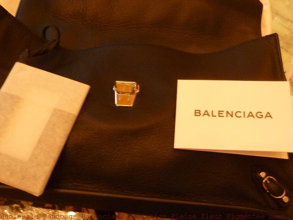 c4d0599c4be Wholesale Handbags Balenciaga Imitation Pleine Fleur Pigmentee Doublure  Bijouterie Black Leather Shoulder Bag balenciaga replica motorcycle bag