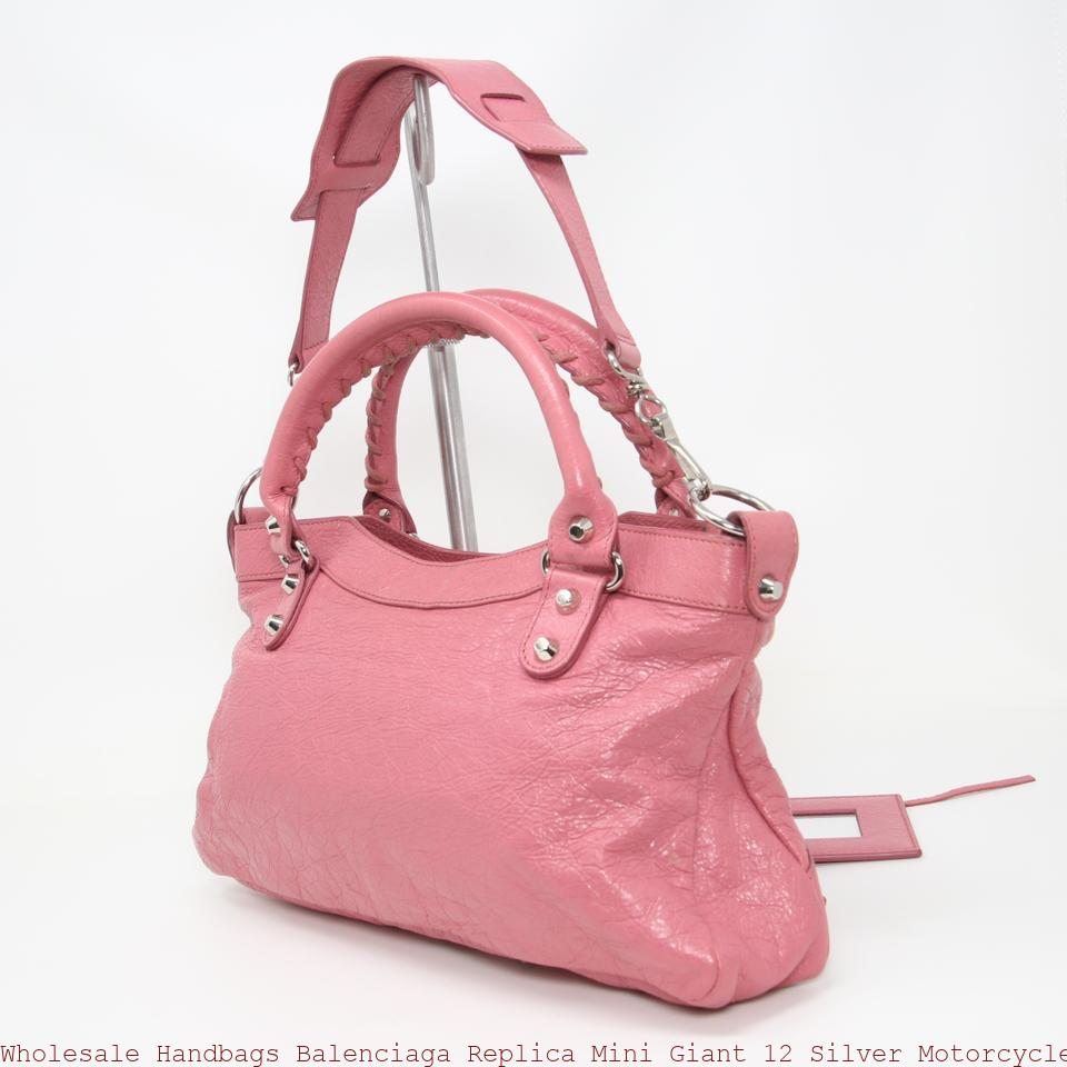 Wholesale Handbags Balenciaga Replica Mini Giant 12 Silver Motorcycle Town  Rose Hortensia Lambskin Leather Tote replica balenciaga triple s a18ab3748869d