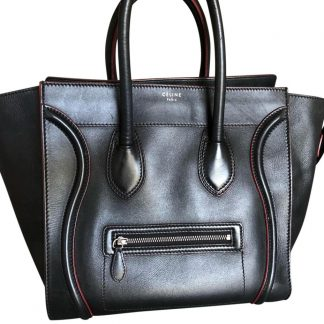 3f23a91c9 ... Wholesale Handbags Céline Imitation Luggage Rare Find Bought From  Saks**black with Red Piping** Leather Tote celine big bag replica ...